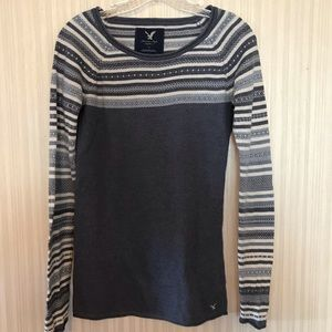 American Eagle Outfitters Sweater Solid/Stripe S/P